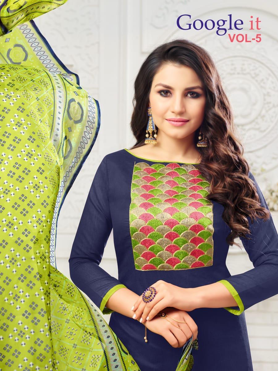 Rr Fashion Google It Vol 5 Designer Low Range Cotton Suits Wholesale