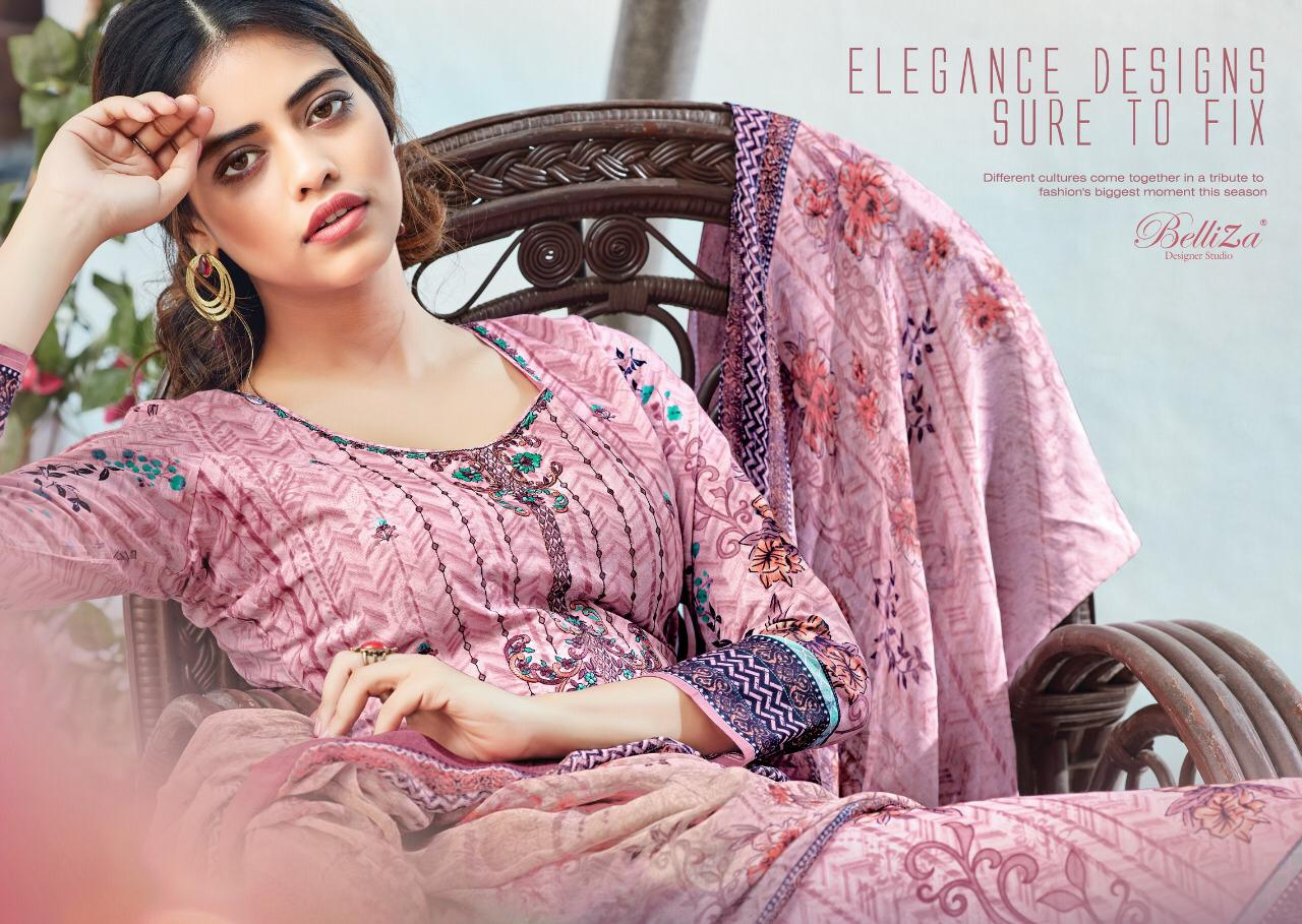 Belliza Sapphire Designer Pure Cotton With Embrodery Work Suits Wholesale