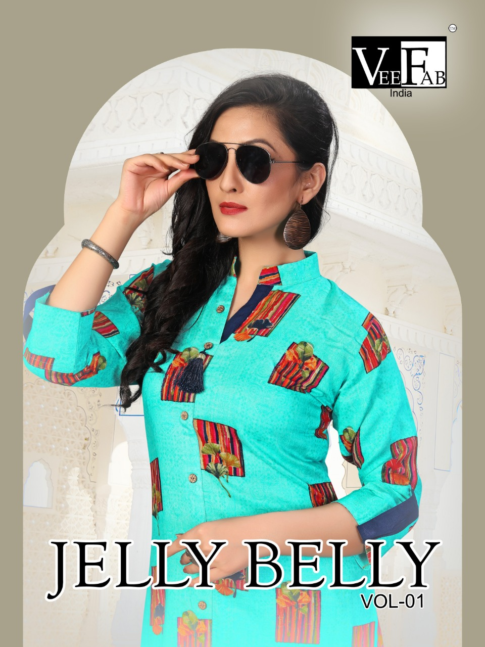 Vf India Jelly Belly Designer Rayon Kurti With Plazzo Best Wholesale Rate