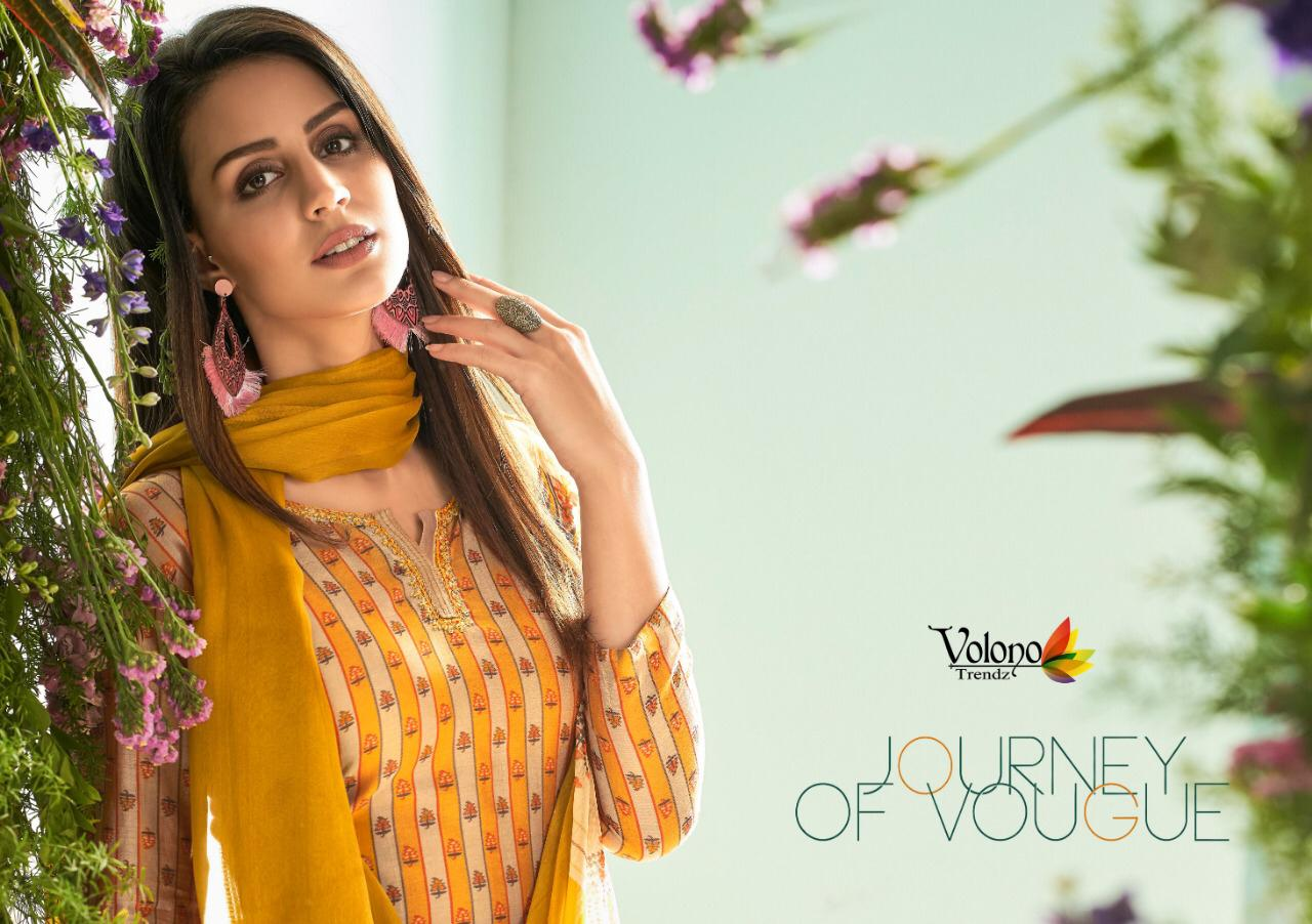 Volvono Aleena Vol 1 Designer Jam Satin Embroidery Work Suits Wholesale