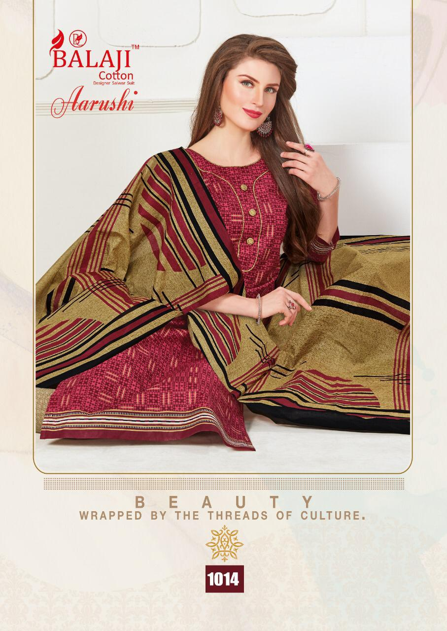 Balaji Cotton Aarushi Designer Pure Cotton Suits In Best Wholesale Rate