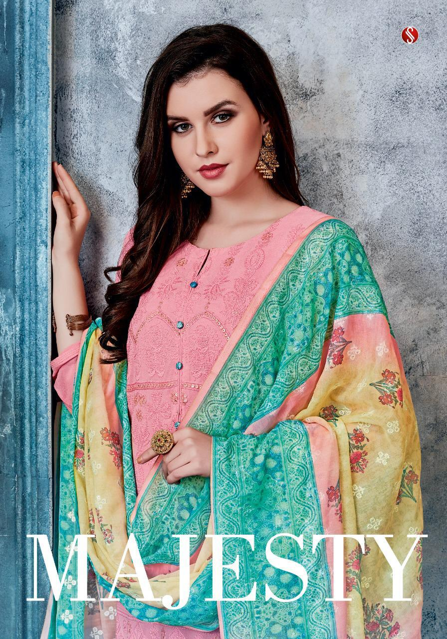 Sri Majesty Designer Heavy Embroidery Suits In Best Wholesale Rate