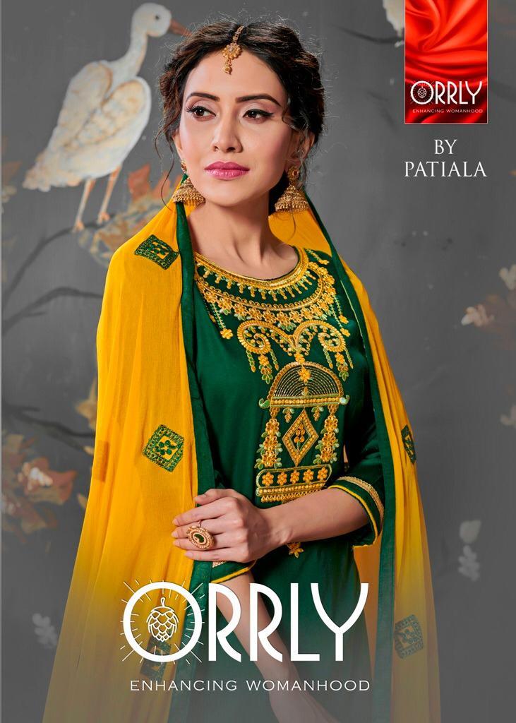 Patiyala Orrly Designer Patiyala Embroidery Work Suits Wholesale