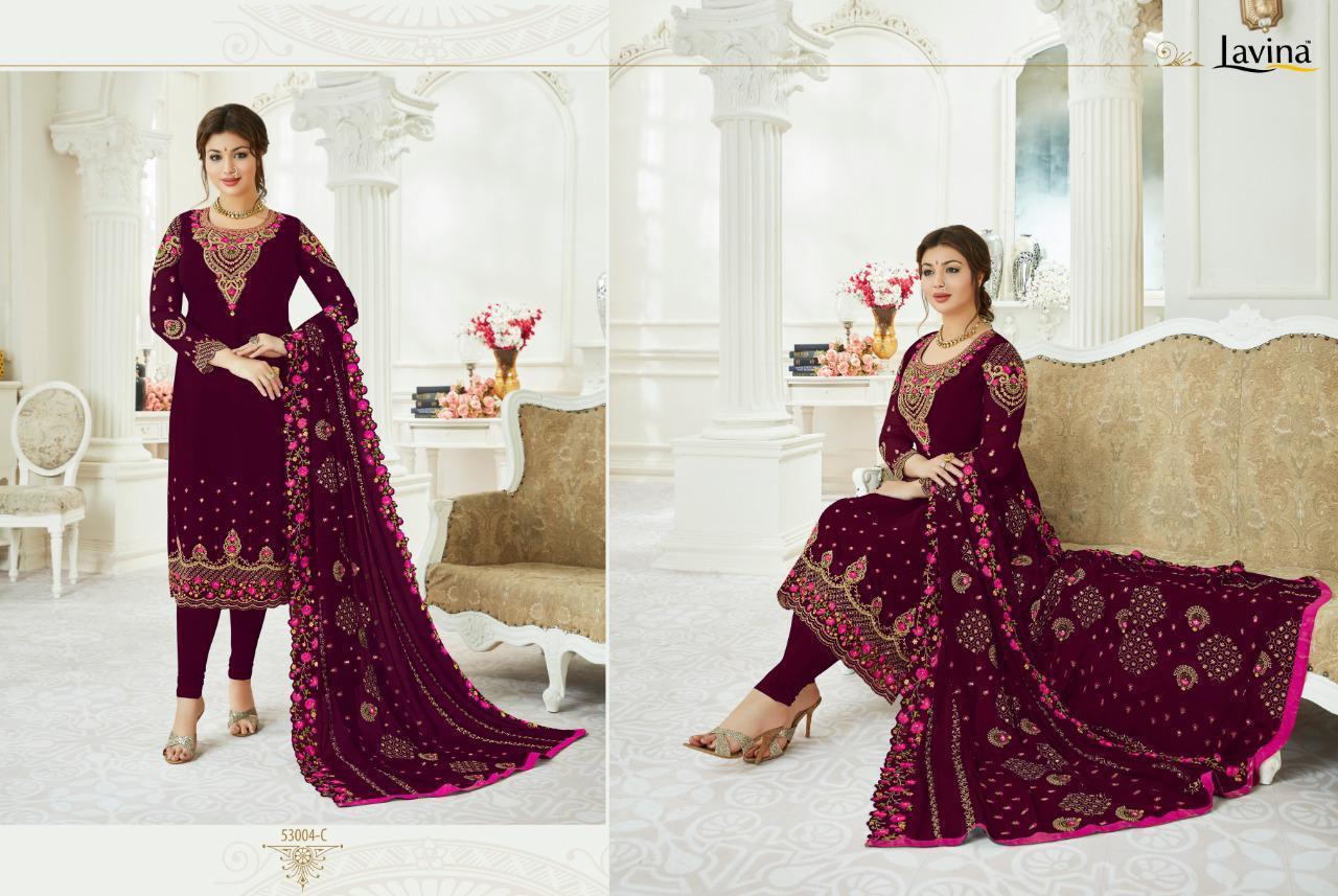 Lavina 53 Hit List Designer Top Georgette Embroidery Suits Wholesale
