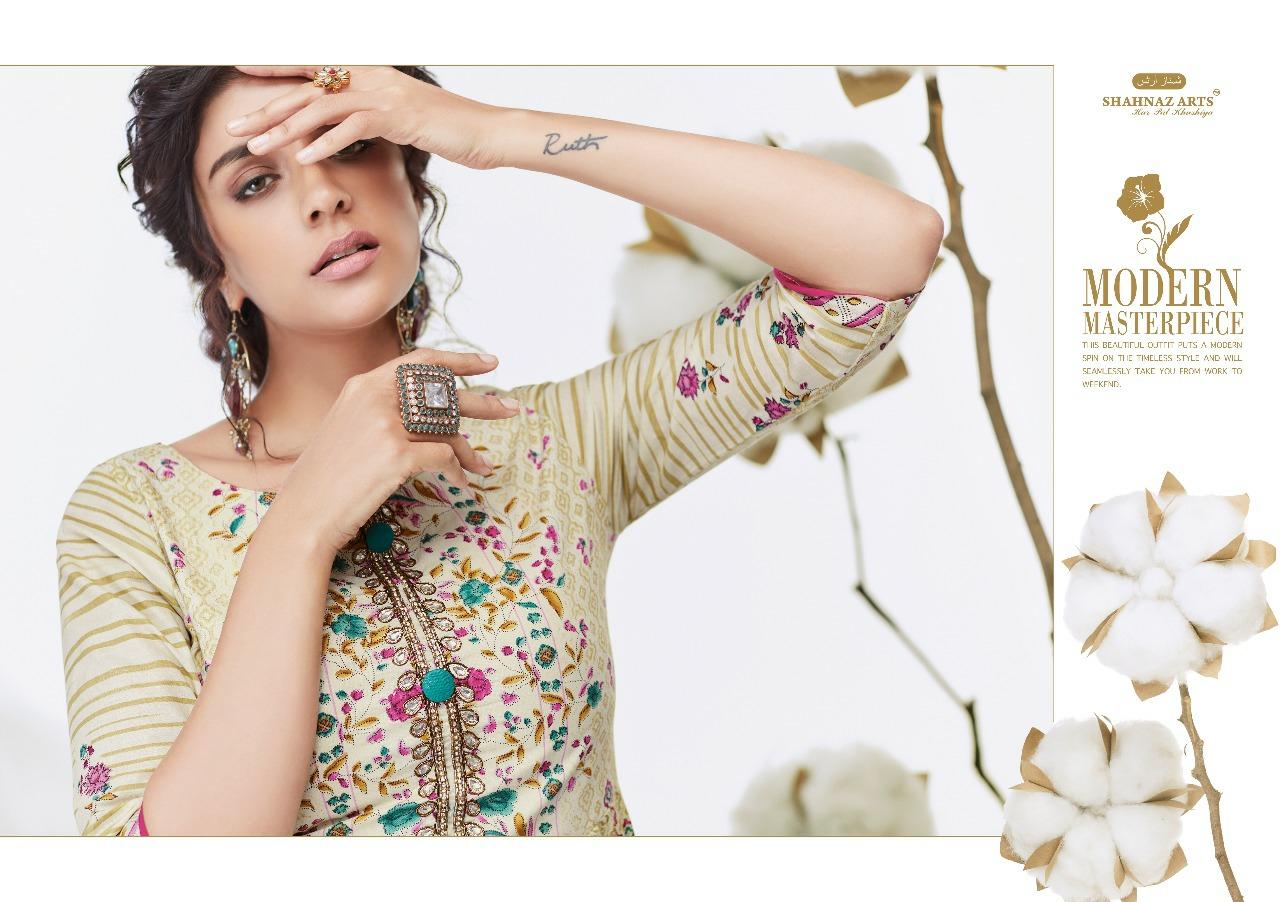 Shahnaz Arts Attitude Designer Cambric Cotton Printed Suits Wholesale