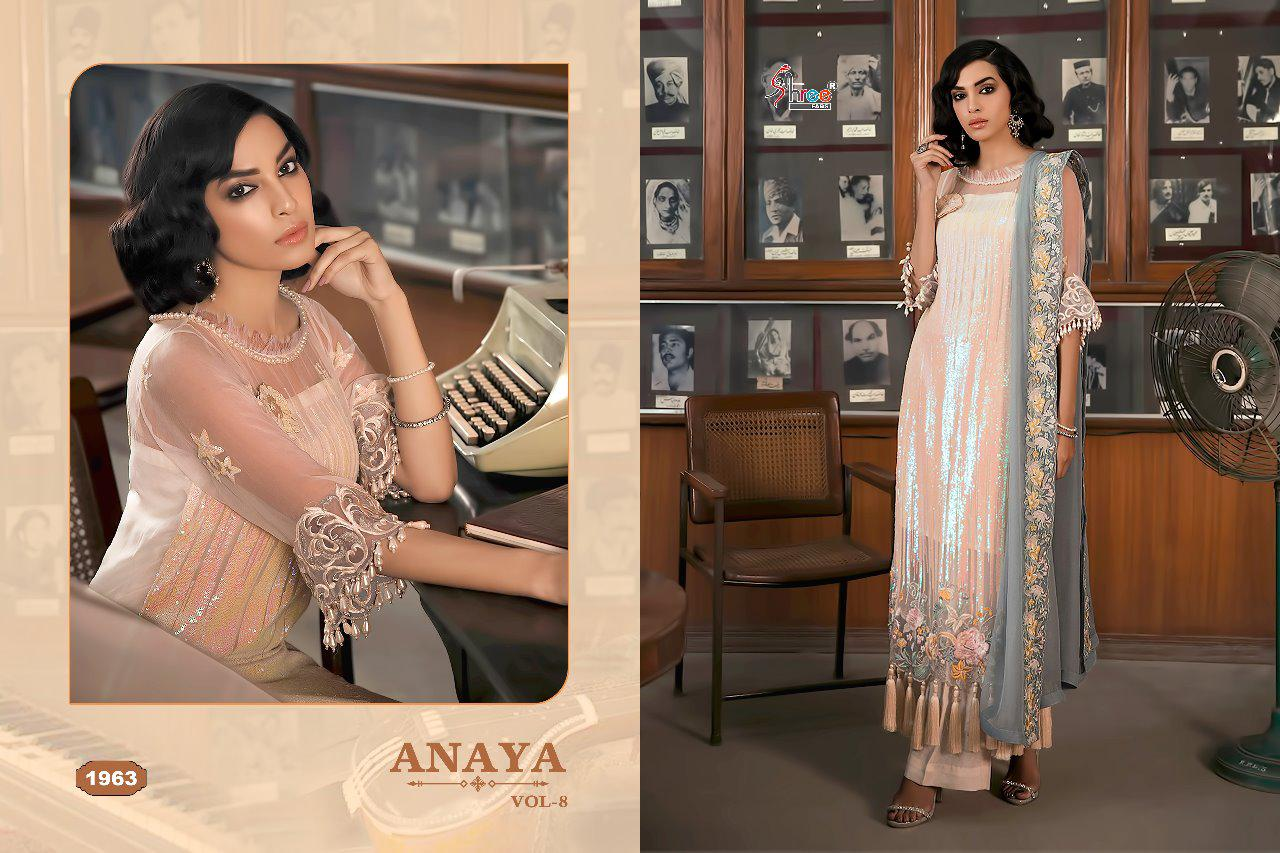 Shree Fab Anaya Vol 8 Designer Suits & Heavy Embrodery Collection With Wholesale Rate