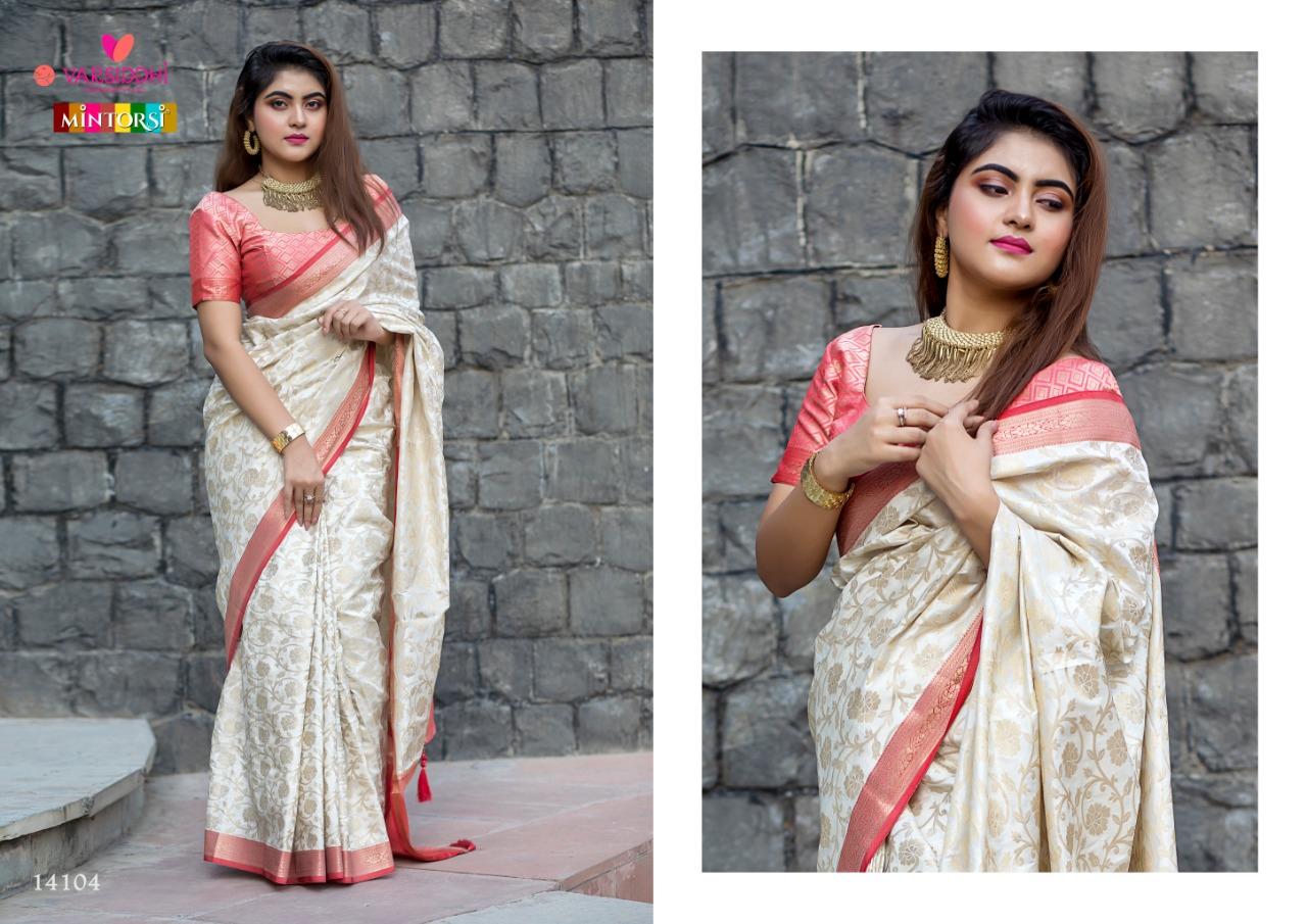 Varsiddhi Mintorsi Banarasi Designer Soft Banarasi Silk Saree With Wholesale Rate