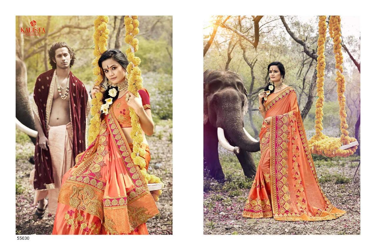 Kalista Fashions Virasaat4 Designer Saree & Best Colour With Wholesale Price