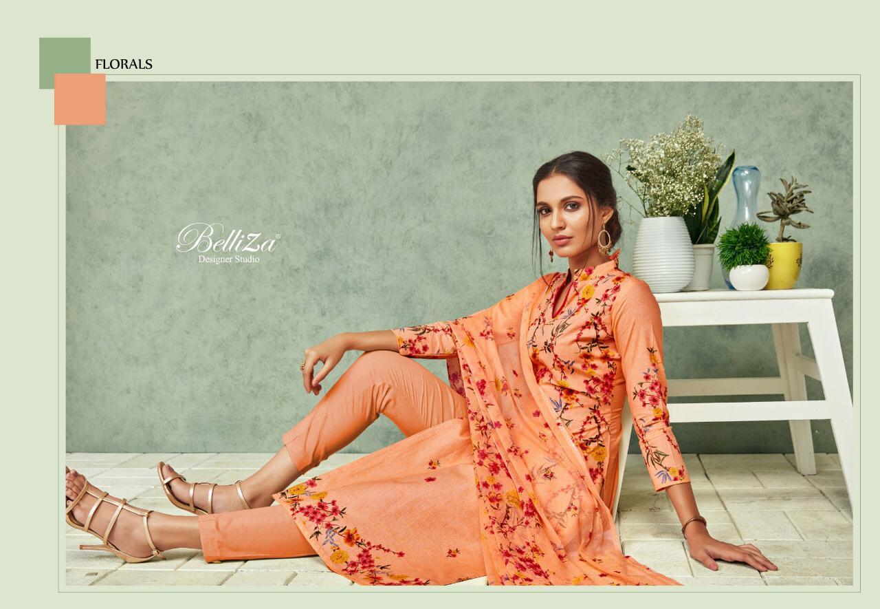 Belliza Florals Designer Cotton Print Suits Wholesale