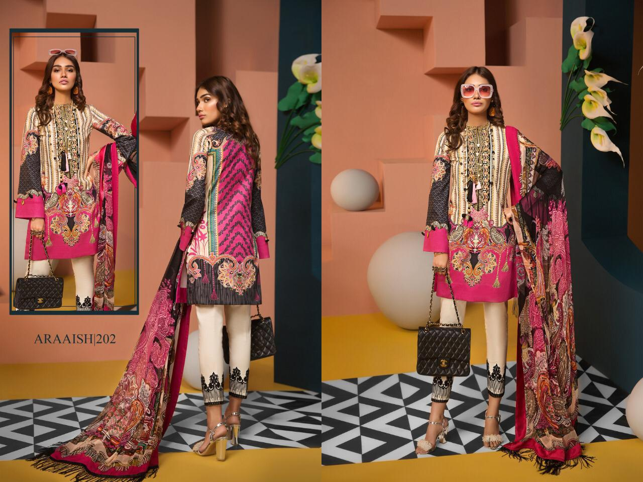 Araaish Vol 2 Designer Lawn Print & Heavy Embroidery Suits Wholesale
