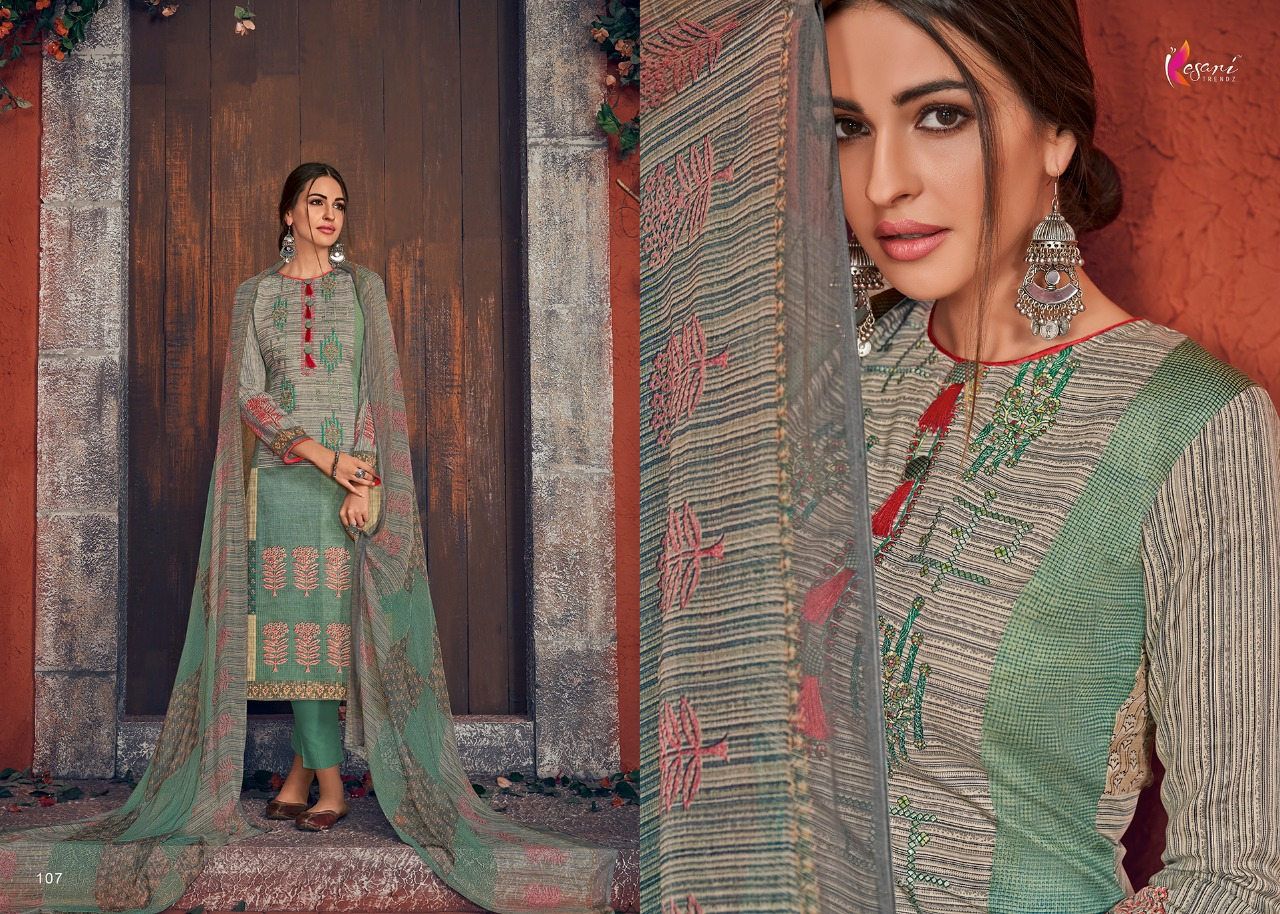 Kesari Trendz Posh Vol 1 Designer Embroidery Work & Jam Cotton Suits With Wholesale Rate