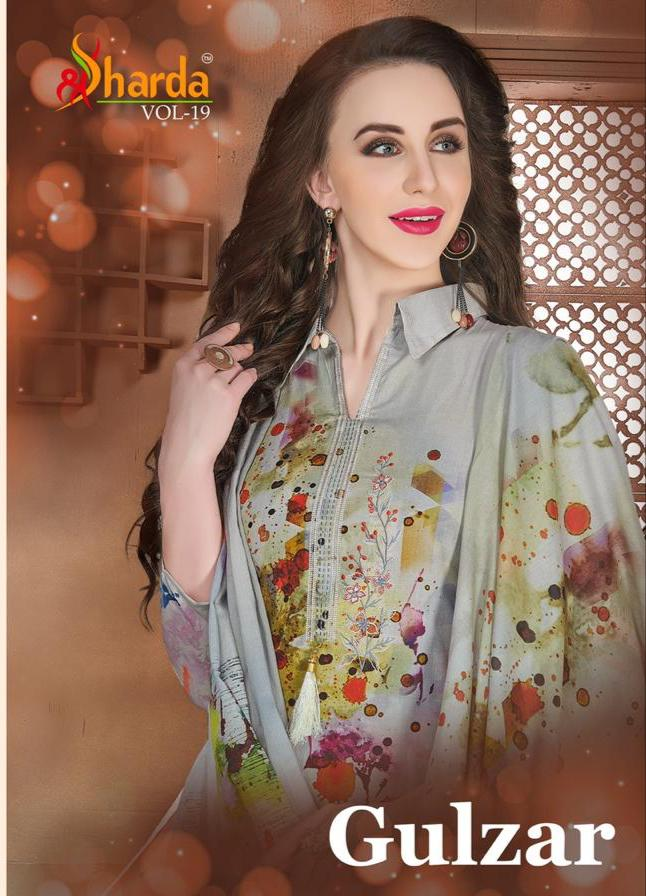 Lavina Gulzar Vol 19 Designer Lawn Print & Embroidery Suits Daily & Office Wear Suits Wholesale