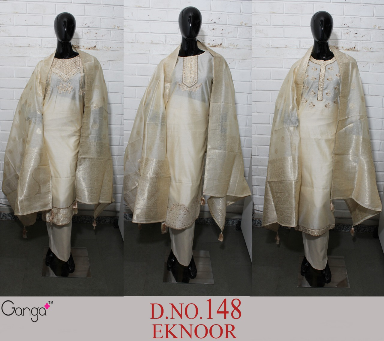 Ganga Eknoor Designer Embroidered & Hand Work Suits Wholesale