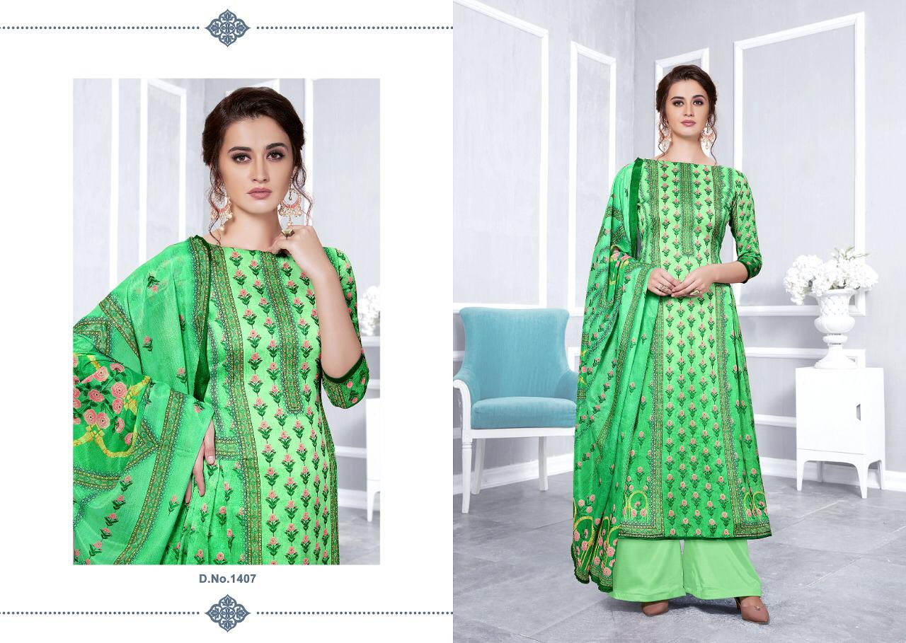 Alisa Sayra Designer Satin Georgette With Embroidery Suits Wholesale