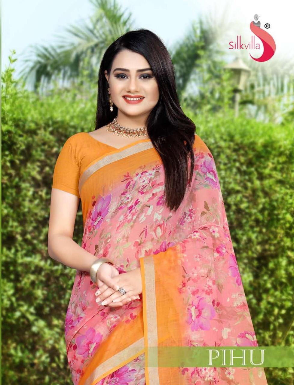 Silk Villa Pehu Designer Daily Wear Sarees Wholesale Surat