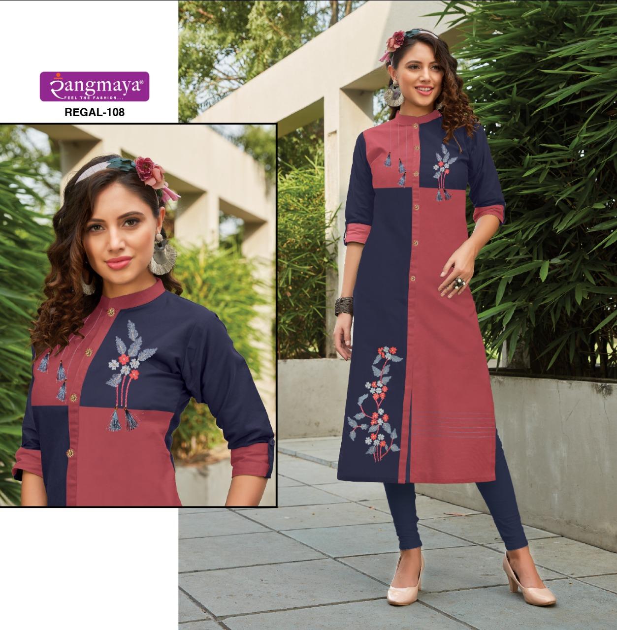 Rangmaya Regal Designer Latest & Western Kurties Wholesale Surat