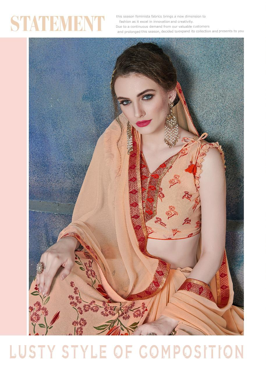 Lilly Blue Berry 3 Designer Sarees In Wholesale Rate