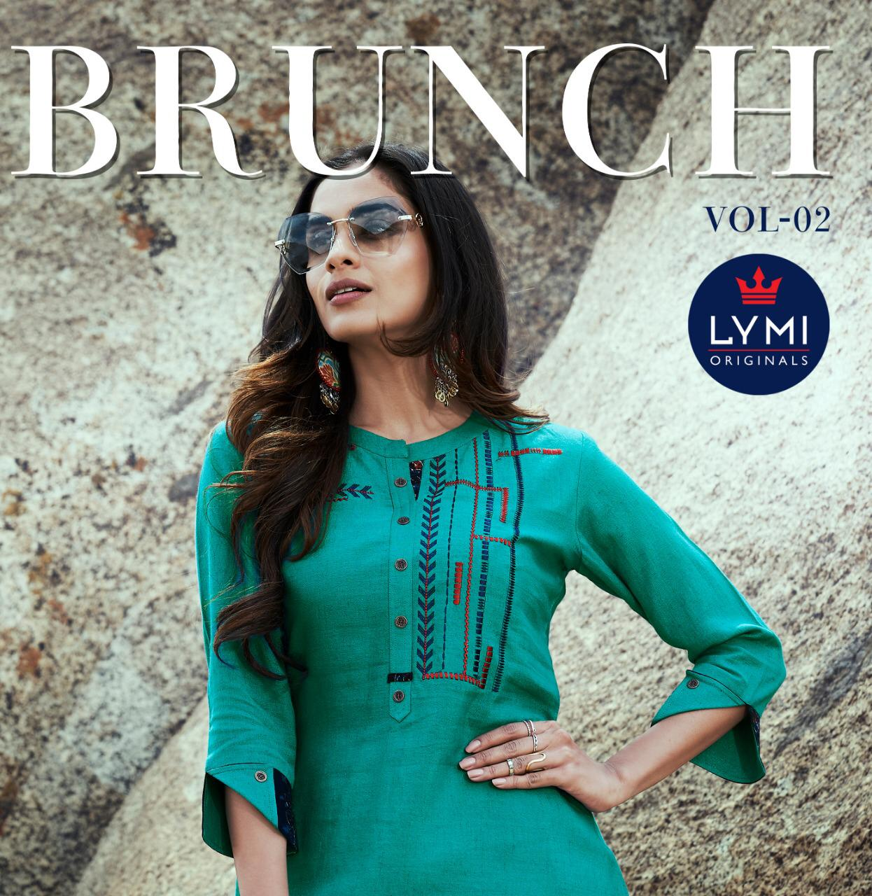 Kessi Febric Brunch Vol 2 Designer Rayon With Embroidery Work Kurties In Wholesale Rate