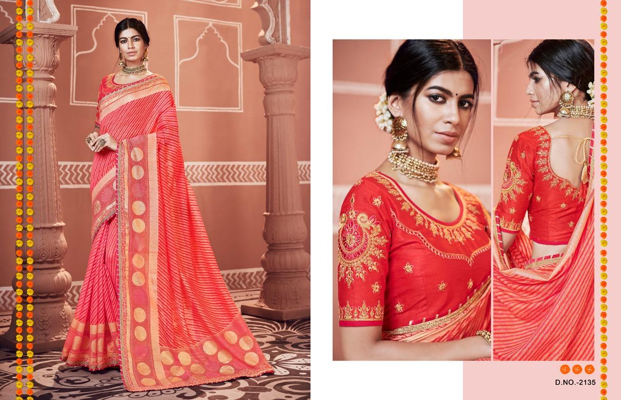 Kessi Bandhej Vol 10 Designer Banarasi Sarees Wholesale