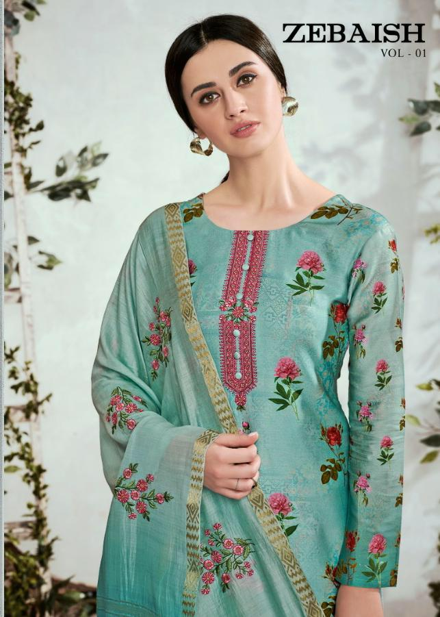 Karma Zebaish Vol 1 Designer Printed With Embroidery Suits Wholesale