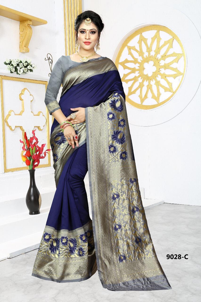Np Silk Saree Designer Wedding Wear & Party Wear Sarees Wholesale