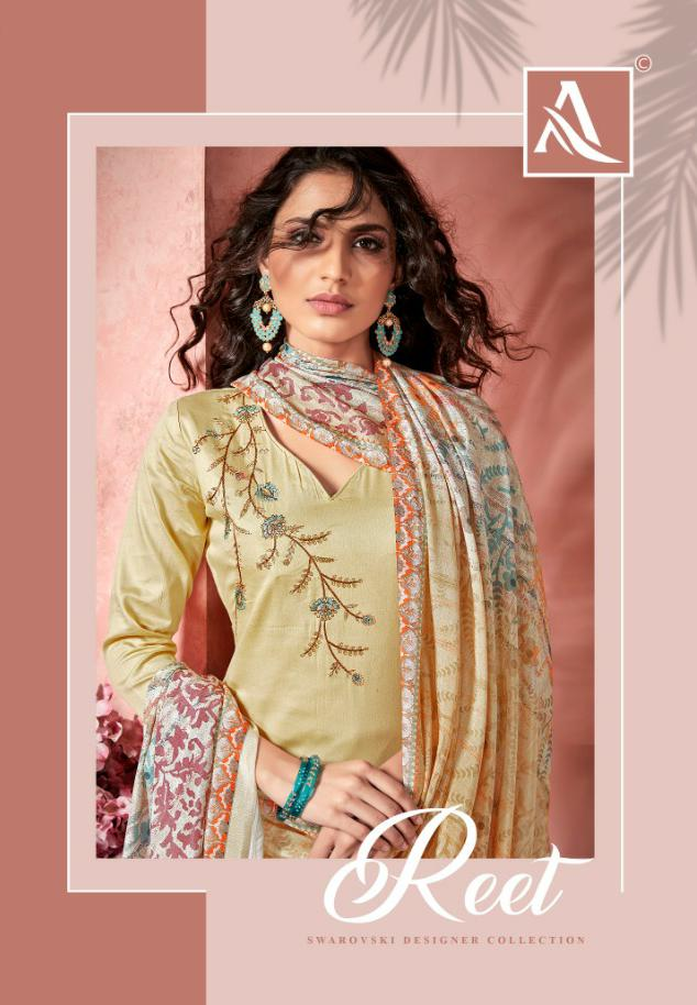 Alok Suit Reet Designer Jam Satin With Embroidered Suits Wholesale