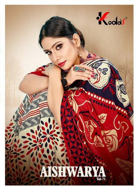 Kodas Aishwariya 71 Designer Heavy Printed Sarees Wholesale
