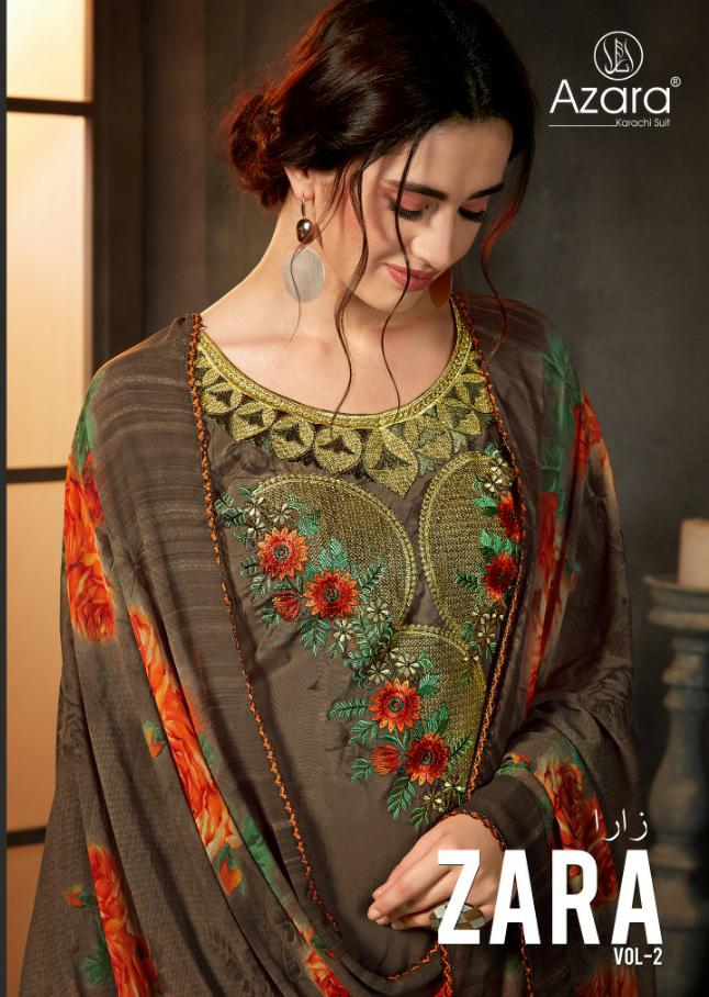 Radhika Azara Zara 2 Designer Printed Suits Wholesale