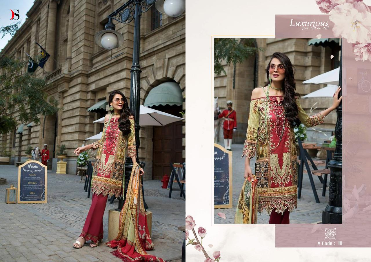 Deepsy Suits Threads N Motifs Designer Embroidered Cotton Suits Wholesale