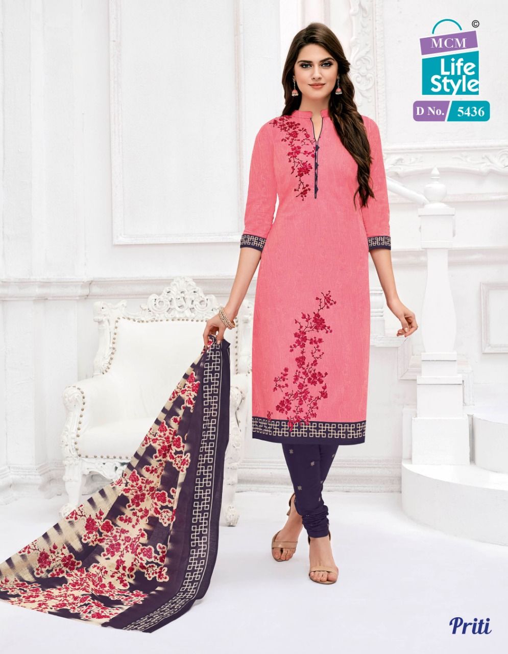 Mcm Lifestyle Priti Vol 2 Designer Cotton Printed Suits Wholesale