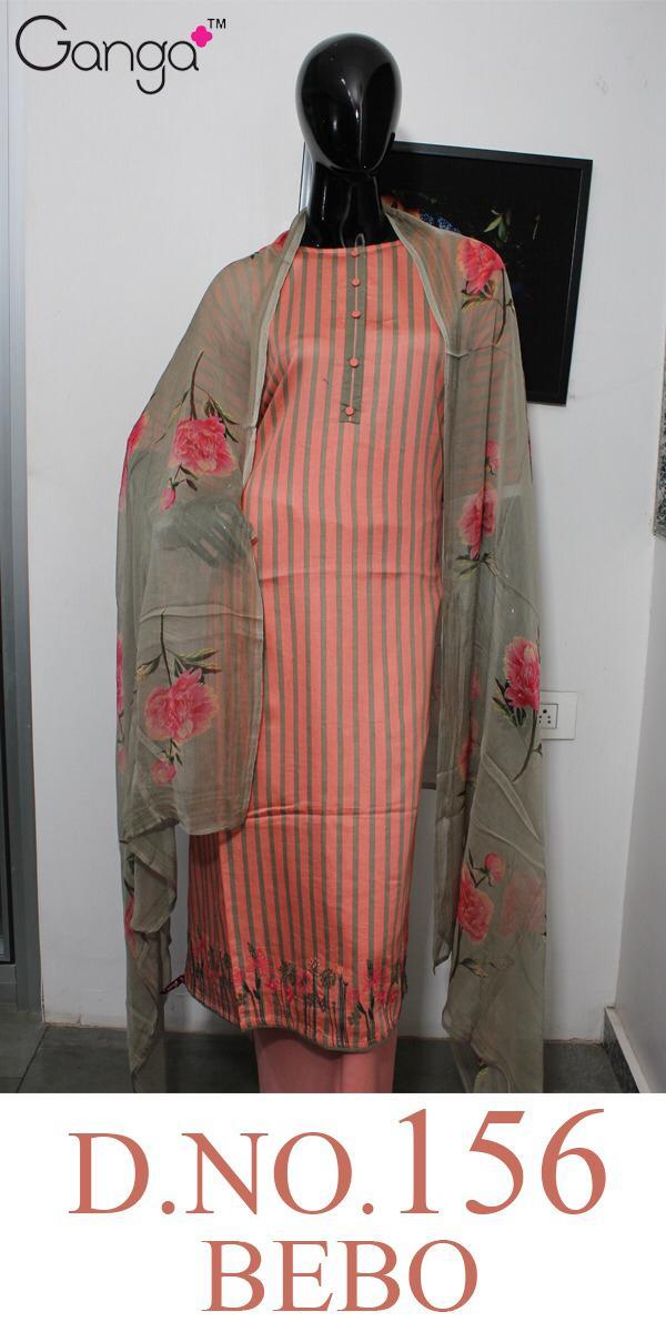 Ganga Bebo 156 Designer Printed & Embroidered Suits Wholesale