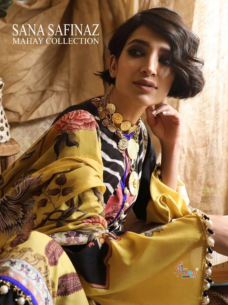 Shree Fabs Sana Safinaz Mahay Collection Designer Cotton Print & Embroidered Suits Wholesale