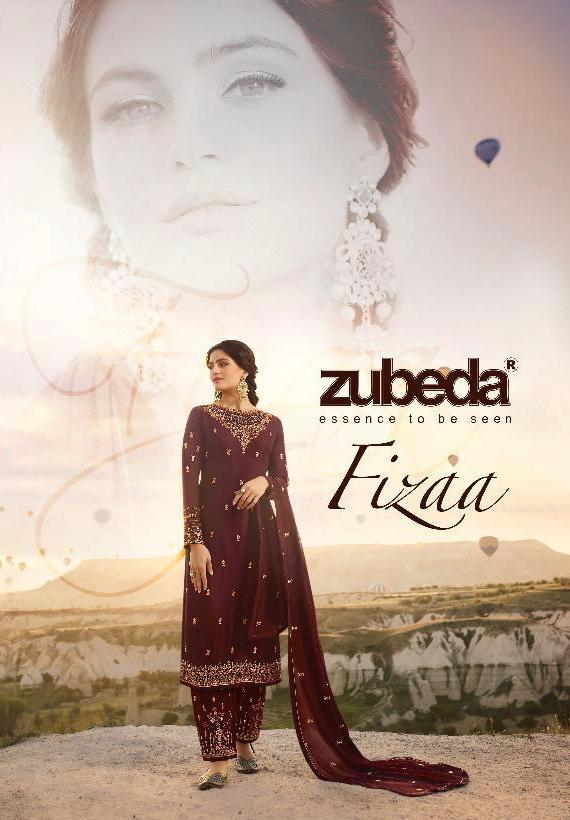 Zubeda Fizaa 16901 Series Designer Satin Georgette With Embroidered Suits Wholesale