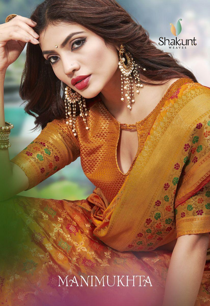 Shakunt Manimukhta Designer Wedding Wear Sarees In Best Wholesale Rate