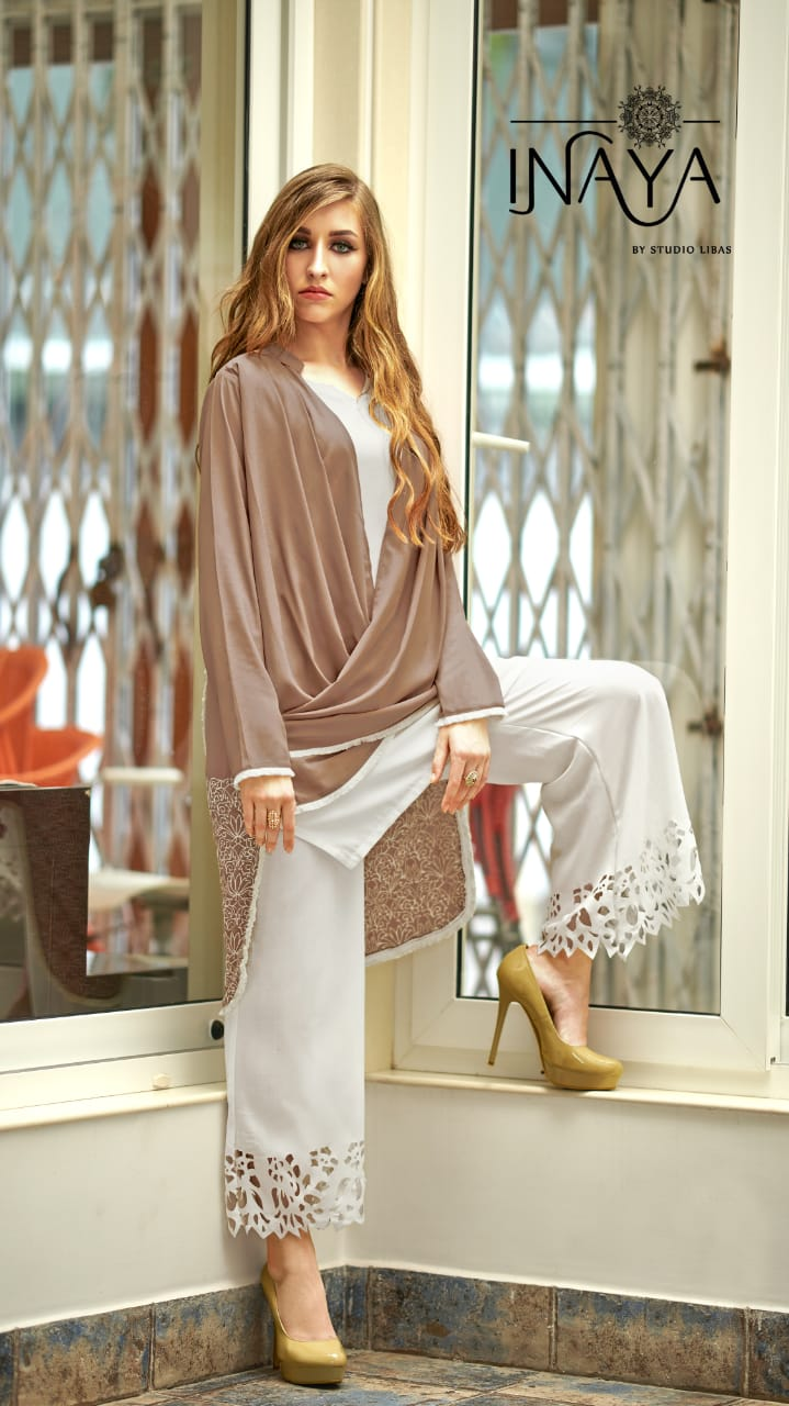 Inaya Lpc 32 Designer Imported Georgette Kurties & Plazzo Wholesale