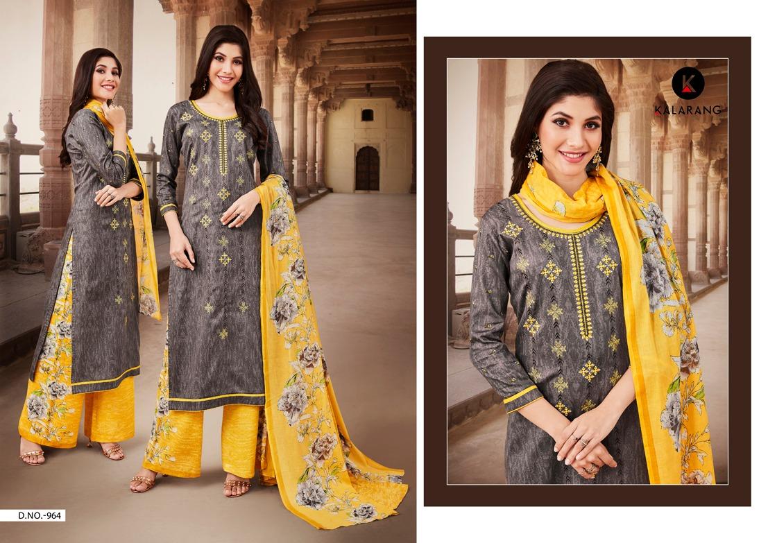 Kalarang Maira Vol 2 Designer Satin Printed & Embroidered Suits Wholesale