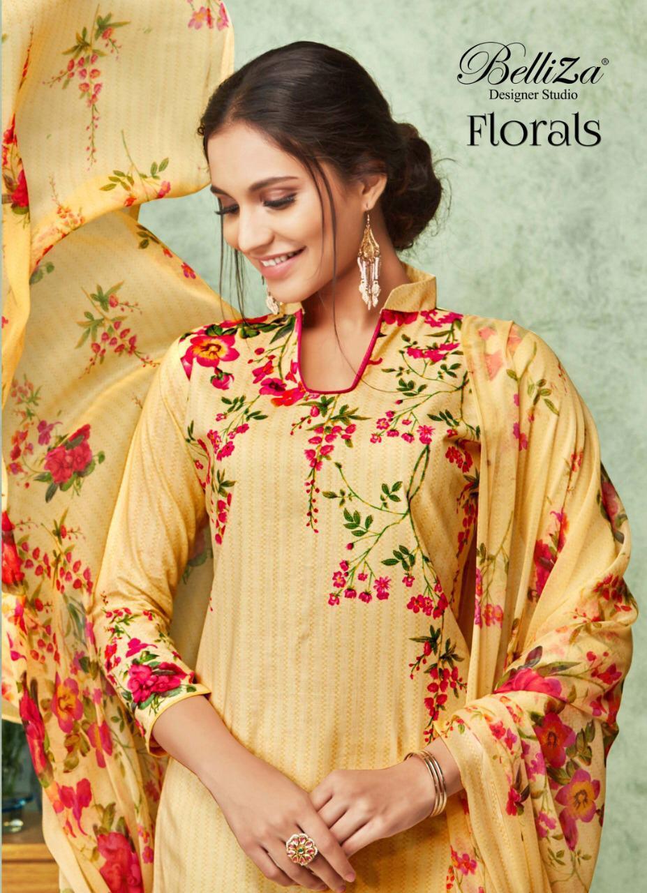 Belliza Florals Series 273 Designer Cotton Printed Suits Wholesale