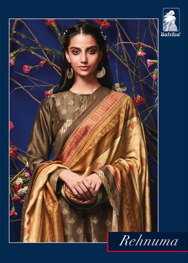 Sahiba Rehnuma Designer Russians Silk Suits Wholesale