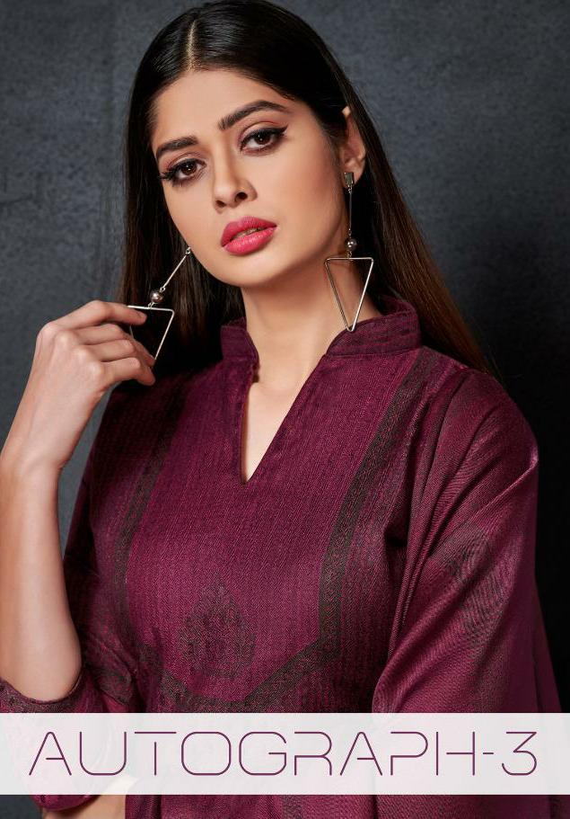 Deepsy Suits Autograph 3 Designer Embroidered With Cotton Printed Suits In Best Wholesale Rate