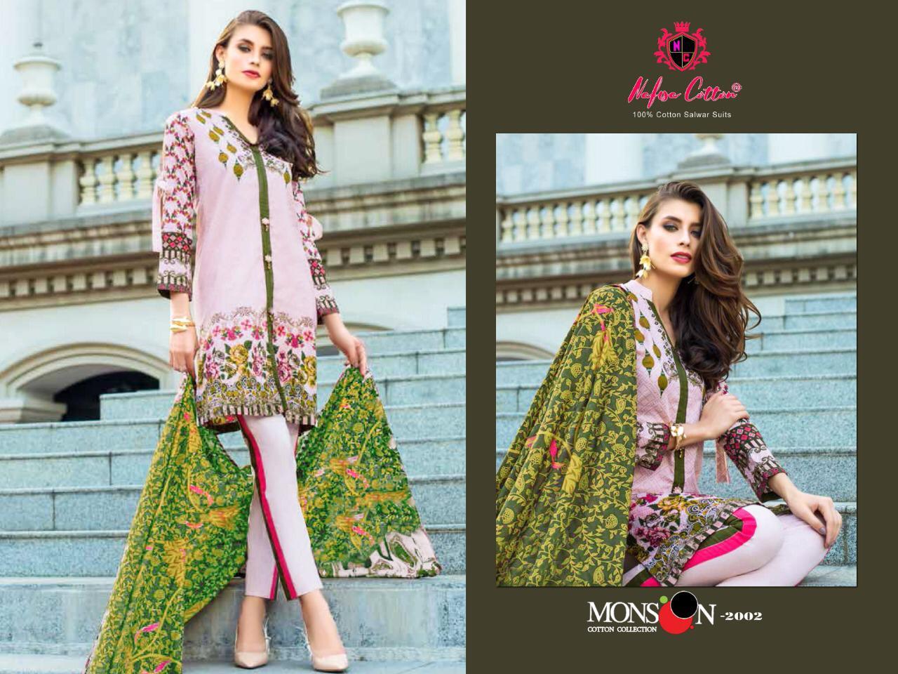Nafisha Cotton Monsoon Cotton Collection Vol 2 Designer Cotton Printed Suits Wholesale