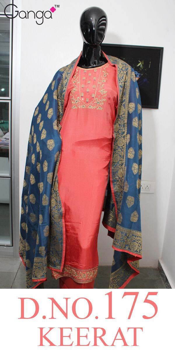 Ganga Keerat 175 Designer Embroidery & Hand Work Suits Wholesale