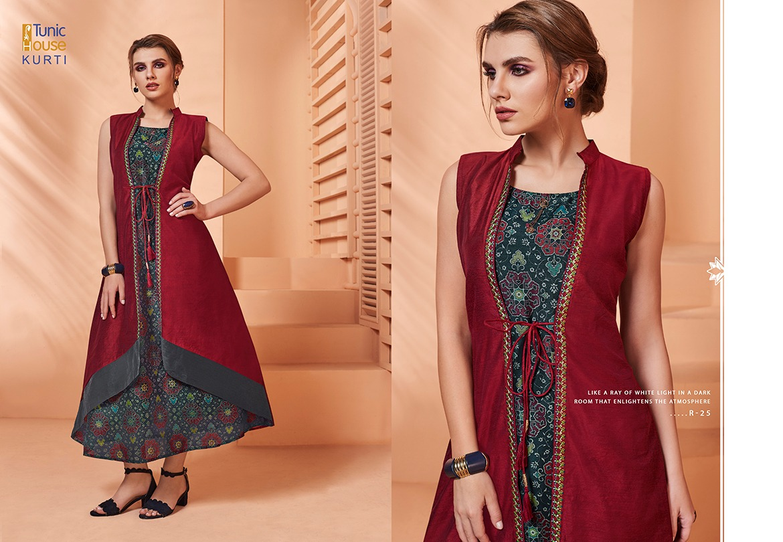 Neha Fashion Rivaj Designer Embroidery & Silk Printed Kurties Wholesale
