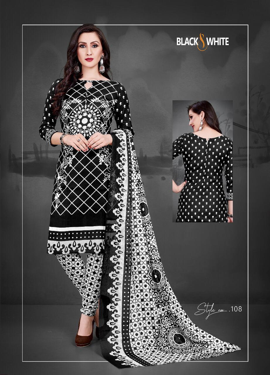 Sc Cotton Black And White Vol 1 Designer Black And White Cotton Suits Wholesale