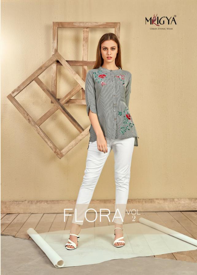 Mrigya Flora Vol 2 Designer Cotton Short Tops In Best Wholesale Rate