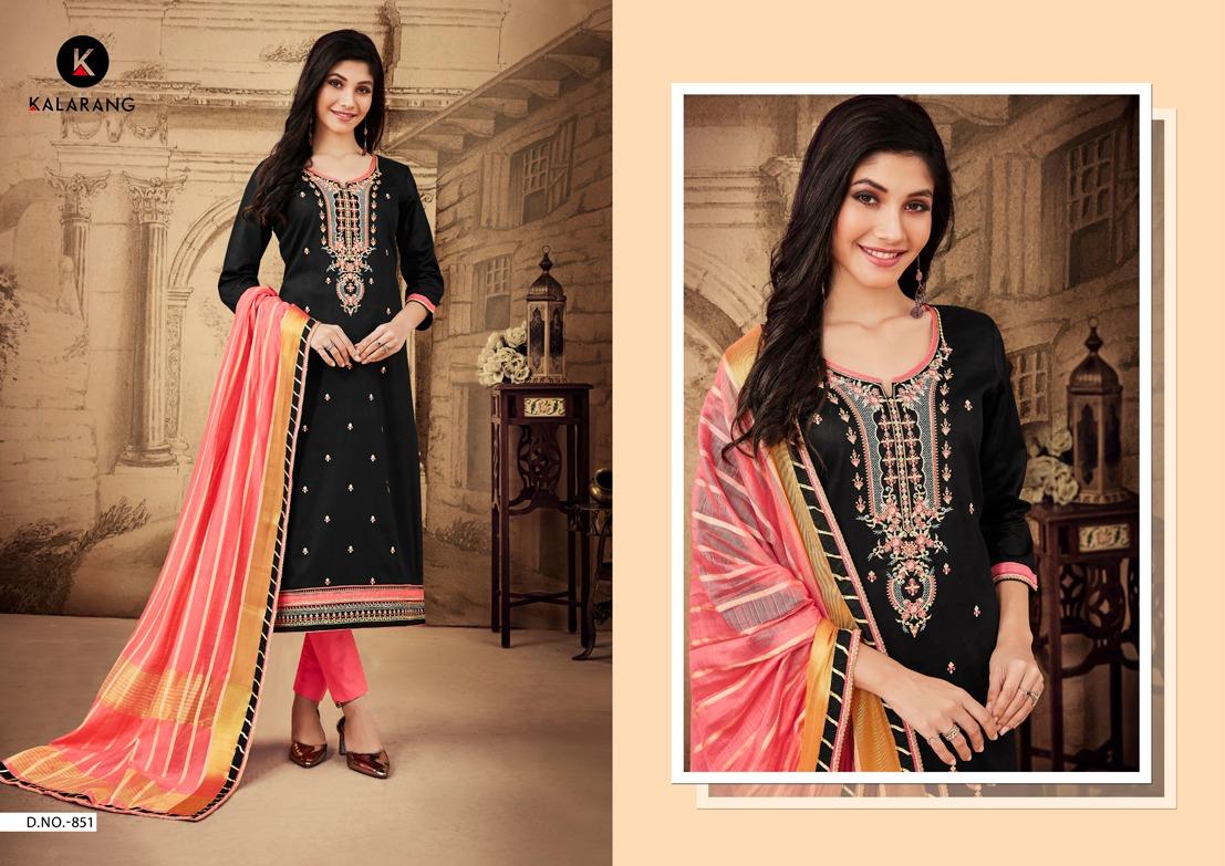 Kalarang Jasmine Vol 4 Designer Jam Silk Cotton With Embroidered Suits Wholesale