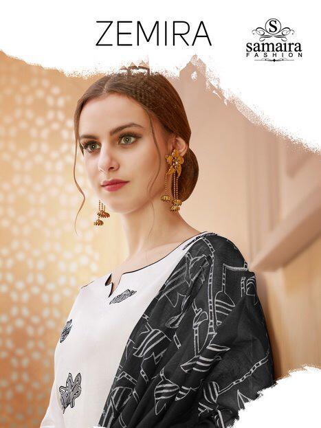 Samaira Fashion Zemira Designer Pure Cotton Suits Wholesale