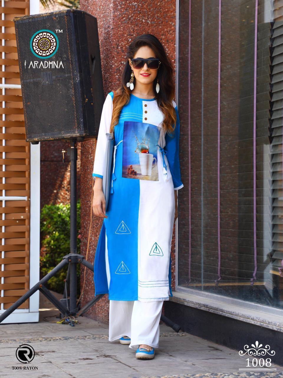 Aradhna Parrot Vol 6 Designer Rayon Stitch Stylish Kurties Wholesale