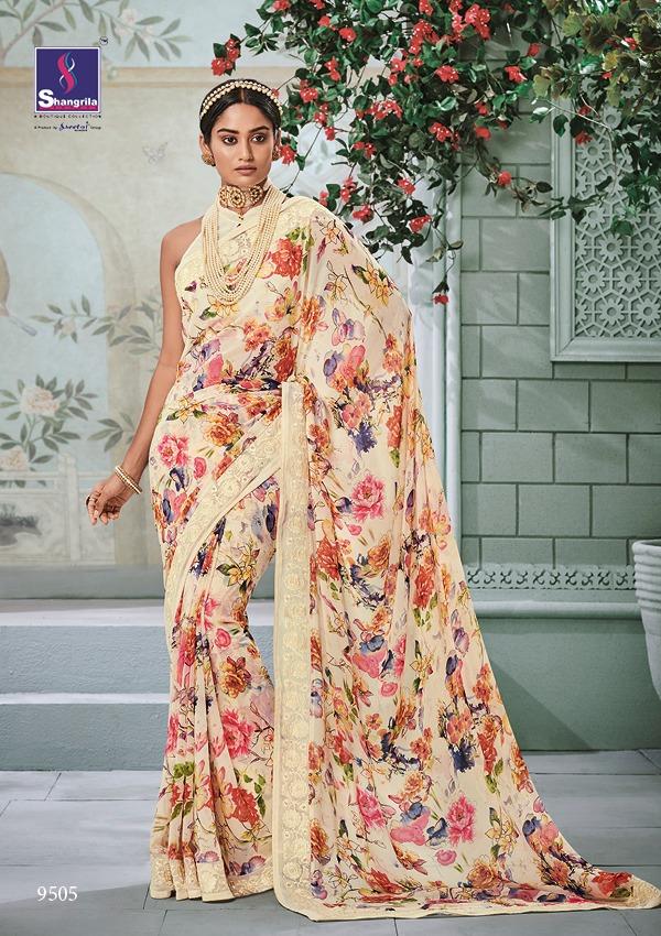 Shangrila Kamini Vol 11 Designer Floral Printed Partywear Sarees Wholesale