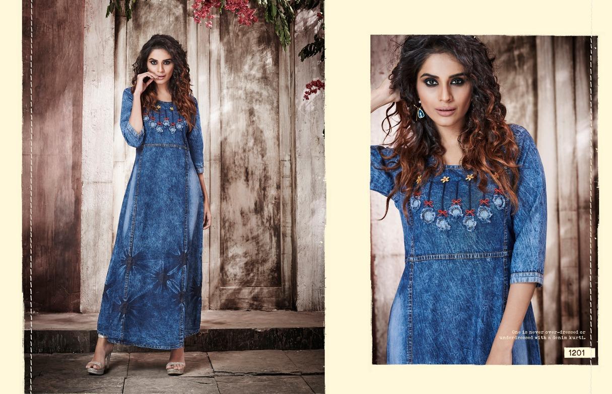 Kajree Kayara Designer Denim Gowns In Wholesale Rate