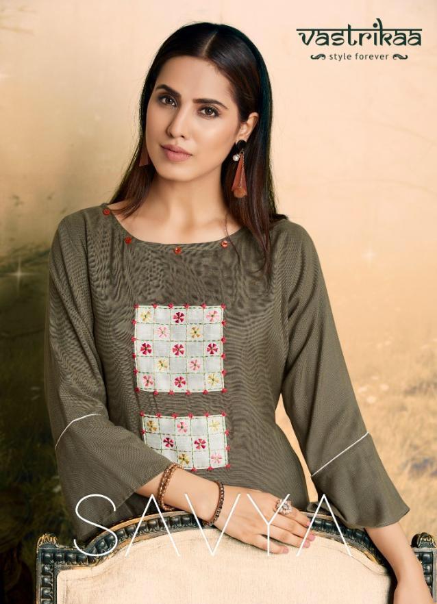 Vastrikaa Savya Designer Heavy Rayon Stitch Kurties Wholesale